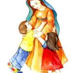 Oración infantil: A la madre de Dios. a Virgen María