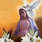 Oración contigo voy Virgen pura a Virgen María